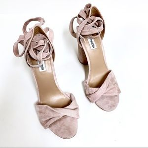 Steve Madden Shoes - Steve Madden 'Clary' Pink Suede Lace Up Heel